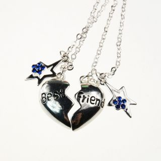 Friend Gift LOVE HEART Star Necklaces Sweet Vintage Classic Necklace