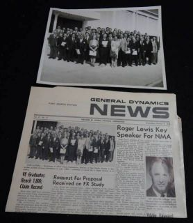 1968 General Dynamics Newsletter Photo Fort Worth GD TX