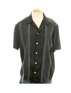 Black w Embroidery Charlie Sheen DaVinci Gambino Style