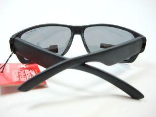 Foster Grant Sports Black Polarized Sunglasses Mirror Lens Bullpen