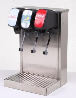 Home Soda Fountain 3 Flavors w Under Counter Ice Maker