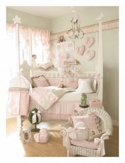 New Glenna Jean Isabella Baby Girl Crib Nursery Bedding 4 pc set