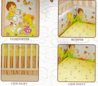 Precious Moments 4 Piece Crib Bedding Nursery Set New