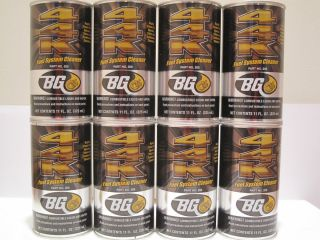BG Products 44K Fuel System Cleaner 8 Cans Free Shipping