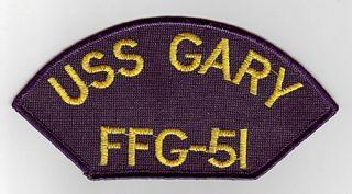 uss gary ffg 51 u s navy cap patch uss gary ffg 51 guided missile