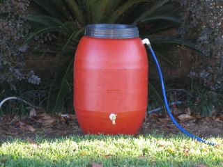 Rain Barrel Plastic Drum 50 Gallon Water