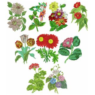 Abc designs 16 frilly symbols machine embroidery designs for Garden embroidery designs