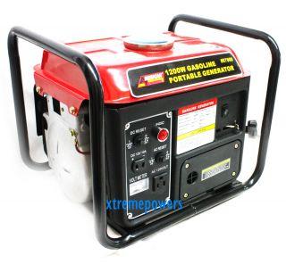 1200 Watt 2 Stroke Portable Gas Power Generator 1200W 110V 63cc Engine