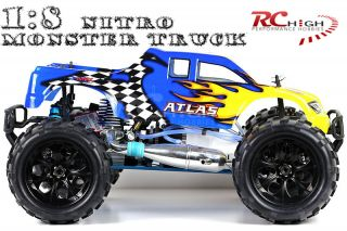 NEW 1 8 HSP RADIO CONTROL RC NITRO MONSTER TRUCK 4X4 GAS CAR