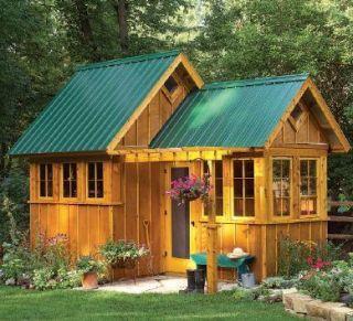 Cool barn housefarmhouse cottage style cool barn house for Garden playhouse plans