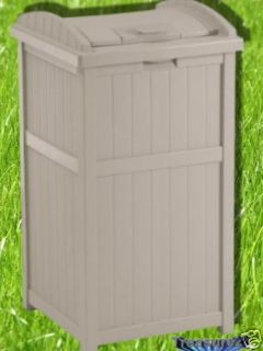 Suncast Outdoor Hideaway Trash Can Patio Deck New