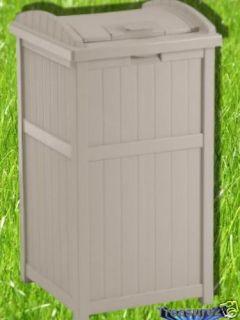 Suncast Outdoor Hideaway Trash Can Patio Deck New