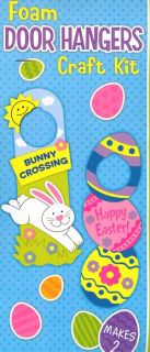 Easter Eggs Door Hanger Foam Craft Kit for Children