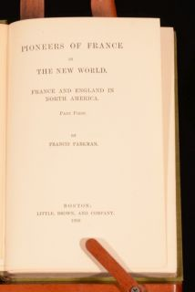 1899 1901 5VOL Works of Francis Parkman Oregon Pioneers of France and