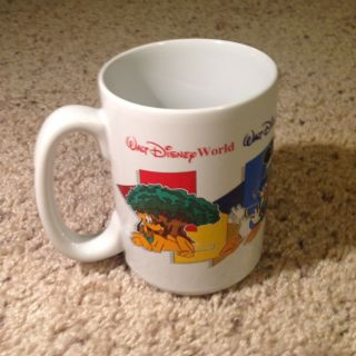 Disney Four Park One World Mom Mug Cup Walt Disney World Mickey Donald