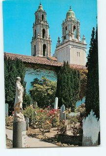 Vintage Postcard Mission San Francisco de ASIS California Twin Towers