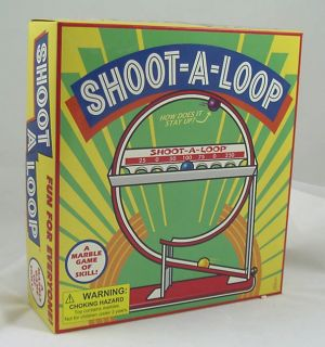 Shoot A Loop Retro Marble Tin Toy Game New in Box Fun