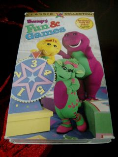 Barney Fun and Games Barneys Classic Collection VHS Movie