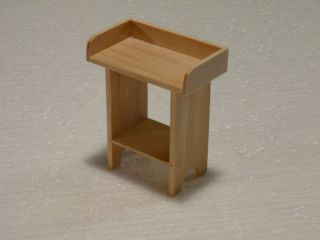 Miniature Dollhouse Furniture Unfinished Serving Table