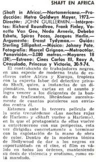 Neda Arneric Frank Finlay Shaft in Africa Orig 1973