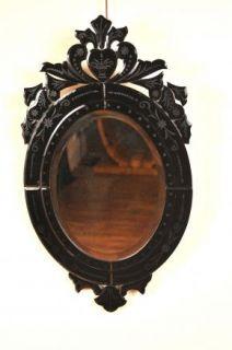 funky italian rococo style glass mirror with venetian touches mirror