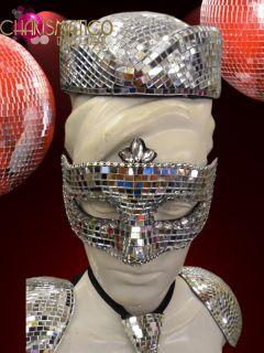 CHARISMATICO Fun and Funky Futuristic Gaga Silver Mirror Sailor or