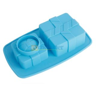 cm Kitchen Bowknot Rectangle Shape Silicone Cake Mold 208
