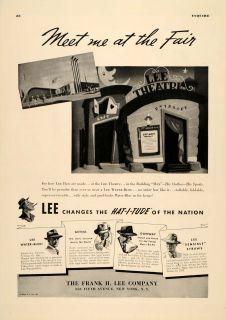 1939 Ad Frank H. Lee Hats Hat I Tude Danway Aetna   ORIGINAL