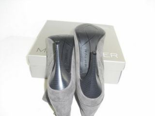 Marc Fisher 10 M Vallay 4 Dark Gray Pump Boot Heel Womens Shoes