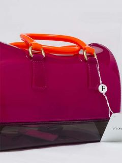 Furla Women Bag Candy Satchel Dragon Fruit Rose Smokey Grey Fluo