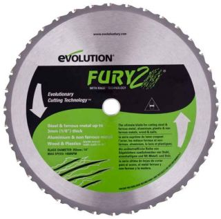 Evolution Fury 2 355mm TCT Circular Saw Blade Multi Purpose Steel Wood