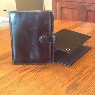 Franklin Covey Planner Cover Black Genuine Leather and Storage Binder