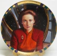 Star Trek Deep Space Nine Major Kira Plate 1995 DS9