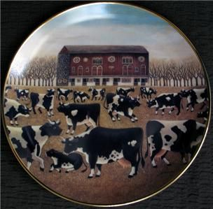 Spring Pasture by Lowell Herrero Platethe American Folk Art Collection