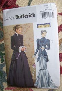Butterick Ladies 2 Piece Victorian Style Dress Pattern Sz 8 14 New
