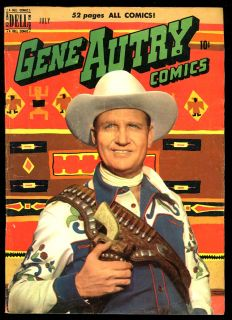 Gene Autry Comics #41 July 1950 Great Photo Gun Indian Blanket Cover