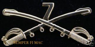 US Army Pin Custer Vietnam Gary Owen Little Big Horn ft Riley