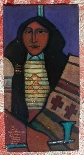 LISTED ARTIST Robin Gary Wood TAOS, NEW MEXICO Painting Modernist Oil