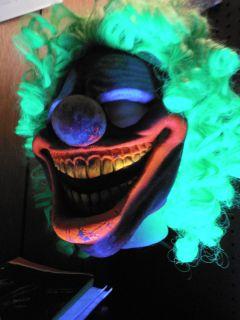 Halloween Haunted House GACY KILLER KLOWN CLOWN 3 D LATEX MASK GREEN
