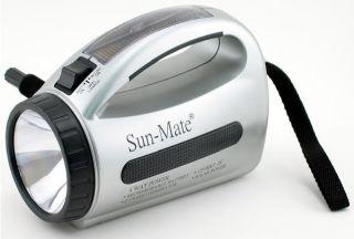 Solar Flashlight Dynamo Hand Crank Battery Power Panel Emergency Brand