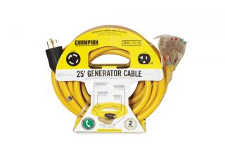 25 ft Portable Generator Power Cord