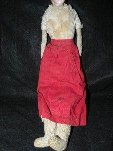 Antique Parian Doll Glass Eyes Pierced Ears Black Headband Fancy Hair