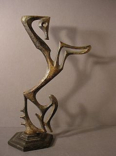 Abstract Solid Bronze Horse Sculpture Frederick Weinberg Mid Century