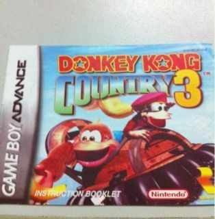 DONKEY KONG COUNTRY 3 GAMEBOY ADVANCE SP DS GBA GAME BOY GAMES