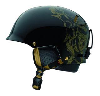Giro Revolver Black/Gold Mask Ski Snowboard Helmet Snow Adult