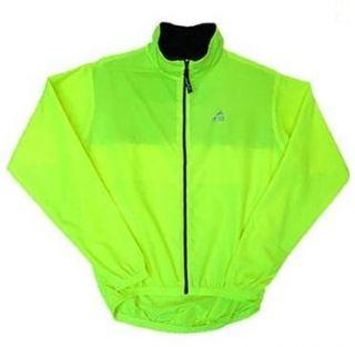 Mens Gannett Breathable Windbreaker Cycling Jacket Neon