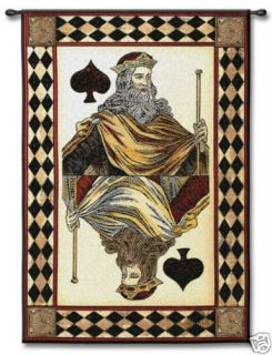 King of Spades Card Game Room Poker Art Wall Tapestry