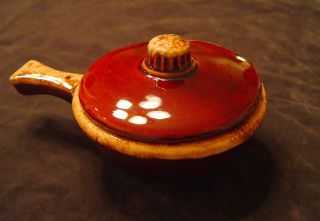 Hull Pottery Brown Drip French Onion Soup or Casserole Bowl with