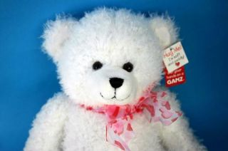 Ganz Tiffany Valentines White Teddy Bear Plush stuffed 12 inch