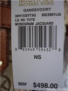 new michael kors gansevoort bag luggage nwt $ 498 00